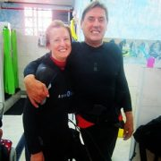 madge and steve diving in tenerife