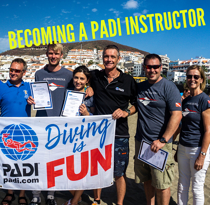 becoming a padi diving instructor