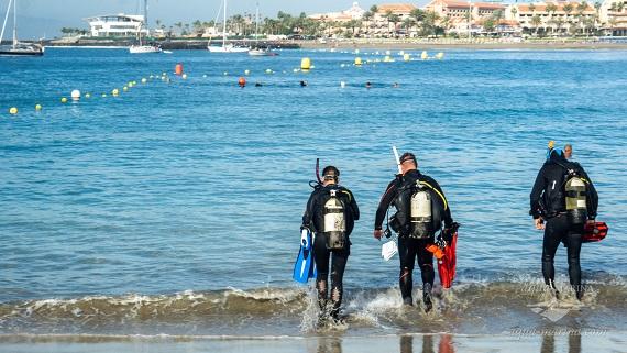 padi diving instructor exam tenerife