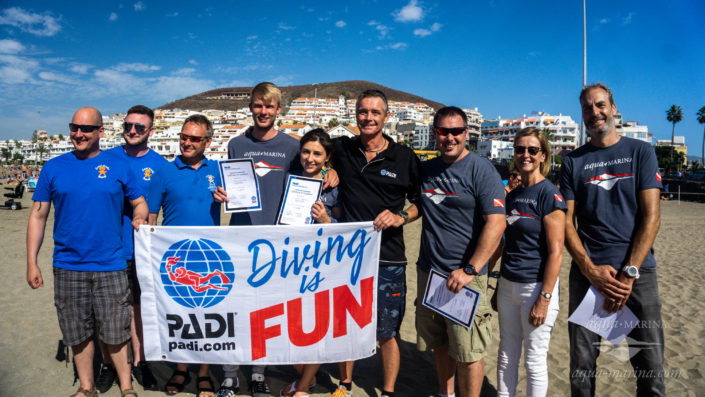becoming a padi diving instructor in tenerife